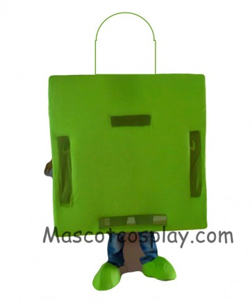All Green Shopping Bag Mascot Costume for Adults Holiday Special Clothing