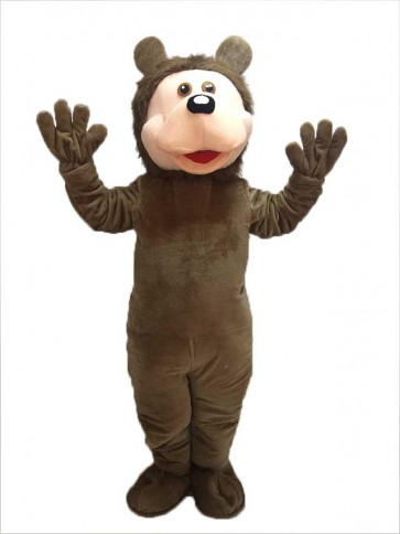 Brown Bear Plush Mascot Costume