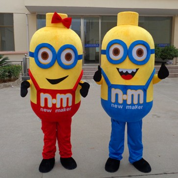 Despicable Me Minions Mascot Costume With Blue Glasses