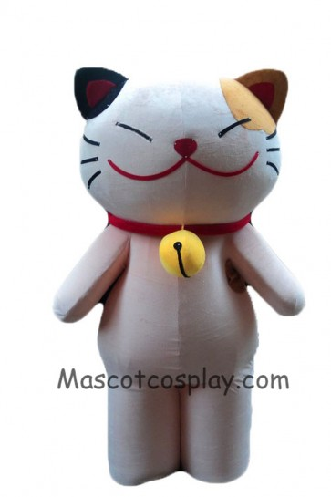 Cartoon Character Adult Lovely Smiley Cat White Cat Mascot Costume