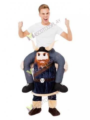 Piggyback Viking Carry Me Ride on Vikings Mascot Costume Saxon Medieval Christmas Xmas