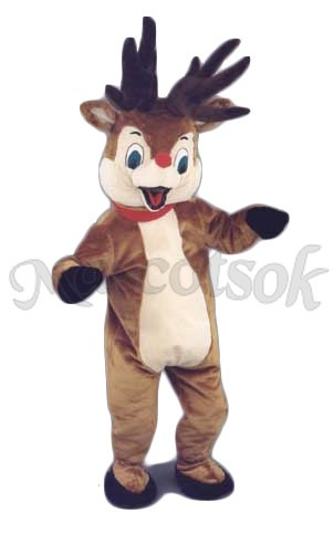 Rudolph Reindeer Deer Mascot Costume