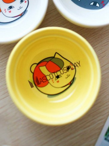 Natsume's Book Of Friends Anime Ceramic Relish Plate Yellow