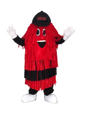 Black & Red Car Wash Finish Line Mascot Costume Car wash brush Mascot