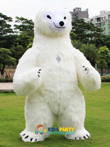 Polar Bear Inflatable Costume For Advertising 2.6M Tall Customize For Adult Suitable For 1.6m To 1.9m Adult