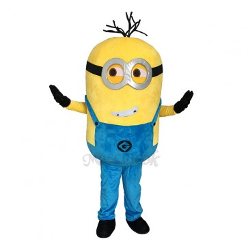 Despicable Me Minions with Blue Overall Mascot Costume Custom Cosplay