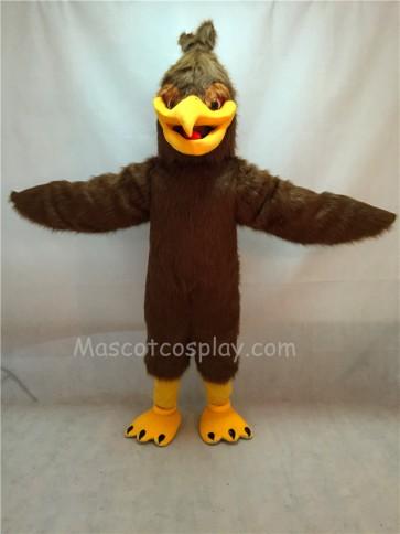 Long Hair Plush Hawk Falcon Eagle Mascot Costume