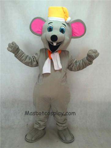 Christmas Mouse Mascot Costume with Yellow Hat