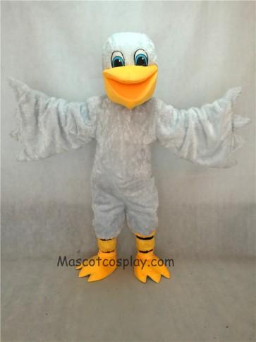 White Pelican Bird Mascot Costume