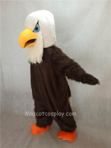 Brown Hairy Arnold Eagle Mascot Costume