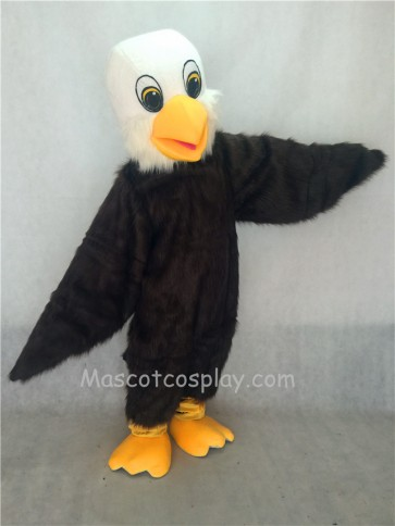 Hairy Brown Baby Bald Eagle Mascot Costume