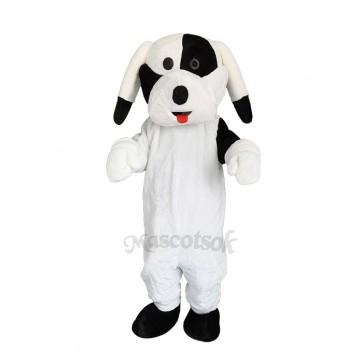 Black and White Dog Mascot Adult Costume