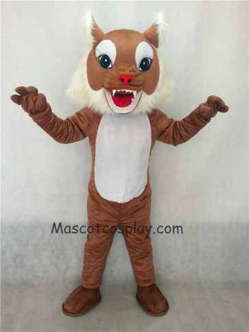 Brown Wildcat Cat Mascot Costume