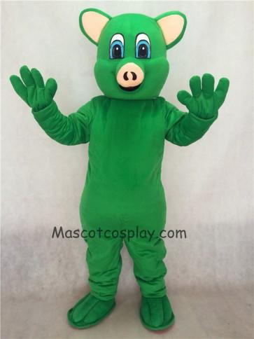 Green Female Pig Piggy Adult Mascot Costume