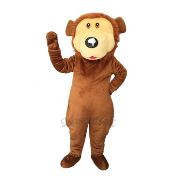 Lovely Brown Bear Plush Adult Mascot Costume