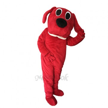 Lovely Red Dog Adult Mascot Costume