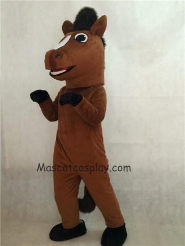 Brown Friendly Horse Mascot Costume