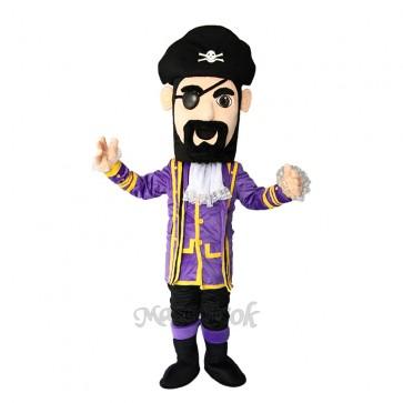 New Purple Coat Captain Jack Pirate Mascot Costume