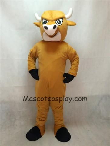 Light Brown Cartoon Bull Mascot Costume
