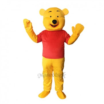 High Quality Funny Winnie Mascot Costume Winnie the Pooh Bear Mascot Costume Adult Party Carnival Christmas Mascot