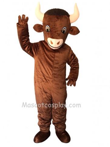 New Cute Brown Bison Mascot Costume