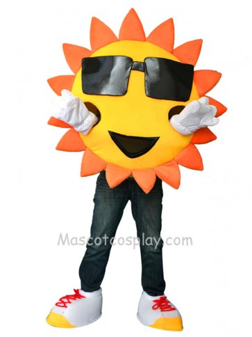 Mr Sunshine with Glasses Mascot Costume