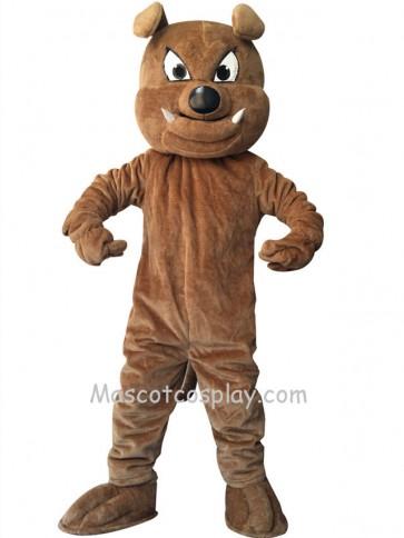 Cute Brown Buster Bulldog Dog Mascot Costume