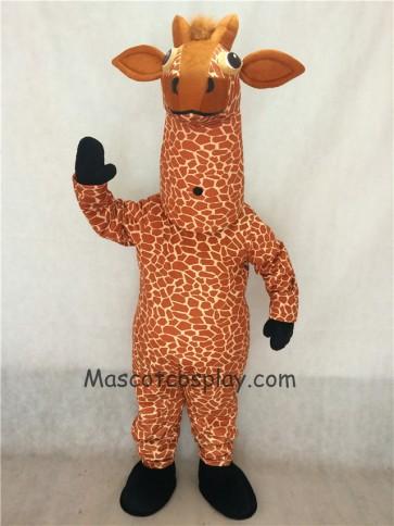 Giraffe Mascot Costume with Black Feet