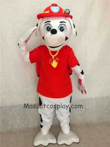 Paw Patrol Marshall Dalmatian Puppy Fire Dog Mascot Costume Pups Save Jake