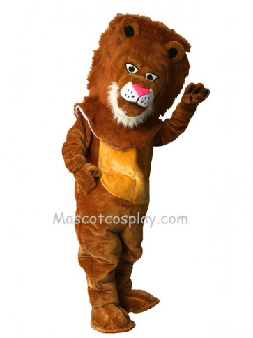 Cute Tan Wally Lion Mascot Costume