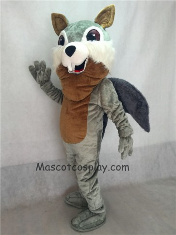 Hot Sale Gray Squirrel Plush Mascot Costume with Gray Tail