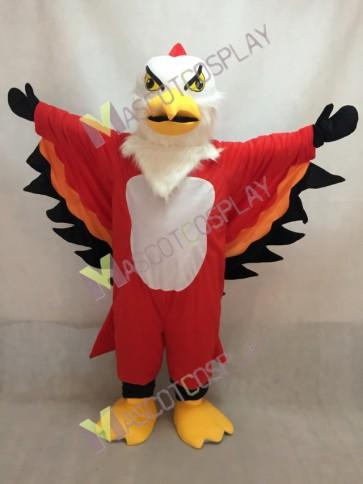 Red and Orange Thunderbird Mascot Costume