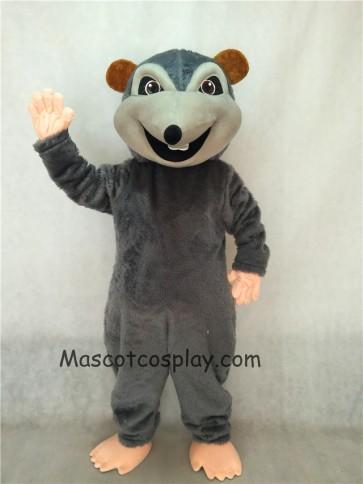Dark Gray Rink Rat Mascot Costume