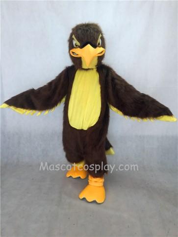 Long Hair Brown and Yellow Fierce Falcon Mascot Costume