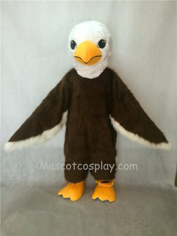 Long Hair Brown American Eagle Mascot Costume