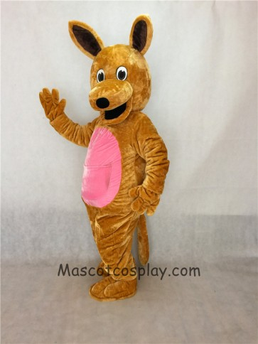 Realistic Brown Kangaroo Mascot Adult Costume