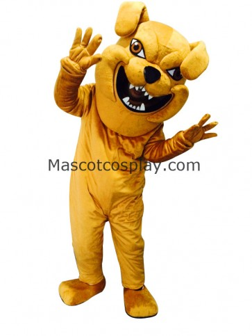 Cute Yellow Bully Dog Costume Mascot