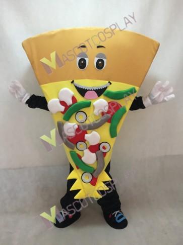 Light Brown Cheese Pizza Mascot Costume