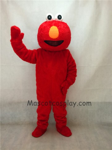 Long Fur Sesame Street Cartoon Elmo Party Carnival Halloween Christmas Mascot Costume
