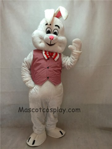 March Hare Bunny Rabbit Mascot Costume with Vest and Bow