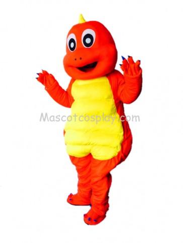 Cute Dinosaur Red Dragon Mascot Costume