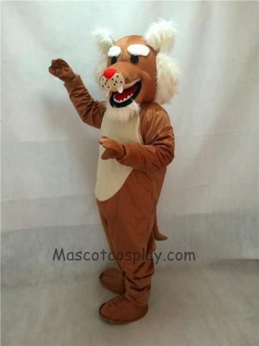 Realistic Muscle Wildcat Mascot Costume