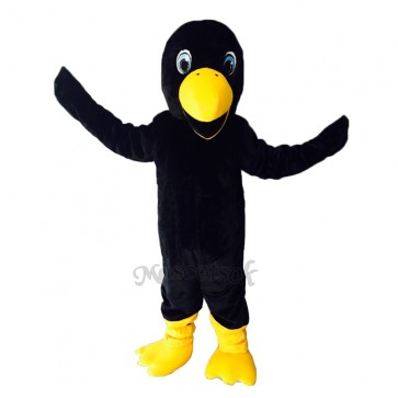 Cute Black Crow Bird Mascot Costume