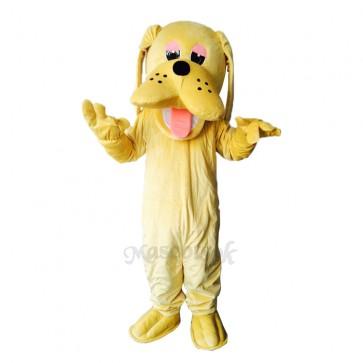 Cute Yellow Hound Dog Adult Mascot Costume