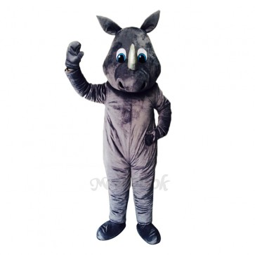 New Gray Happy Rhino Costume Mascot