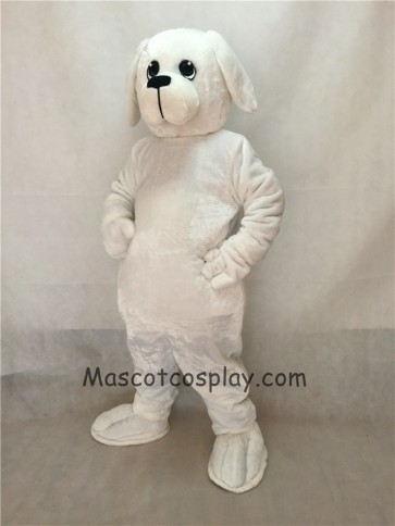 White Nipper Dog Mascot Costume