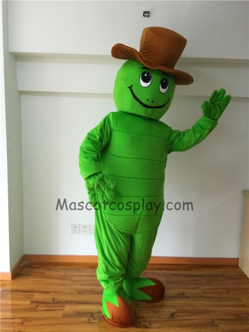 Cute Tommy Turtle Tortoise with Hat Mascot Costume