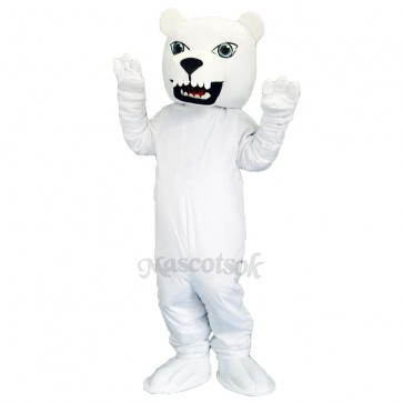 New Cute Polar Bear Mascot Costume