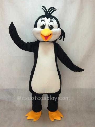 White And Black Penguin Adult Mascot Costume