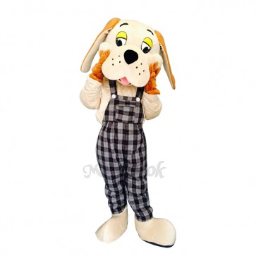 Lucky Dog with Long Ears Mascot Adult Costume